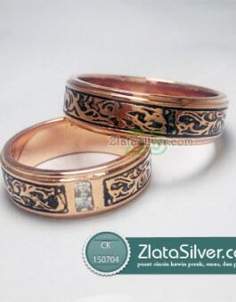 Cincin Kawin Perak Lashea Rose Gold