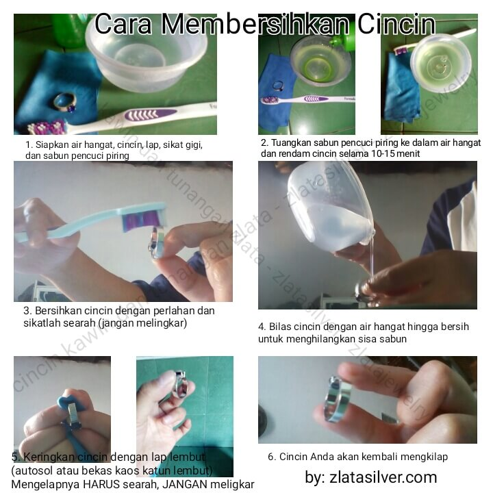 cara membersihkan cincin dan perhiasan perak
