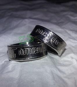 cincin kawin perak ukir aksara jawa