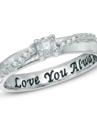 diamond engravable rings