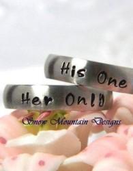 simple wedding ring engraved