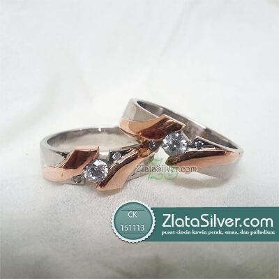 Cincin Kawin Perak Emas Palladium Cantika