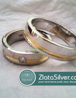 Model Cincin Kawin Perak Sederhana Sasmaya Gilap