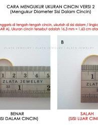 cara mengukur sisi dalam cincin